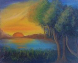 Picturi cu peisaje SUNDOWN