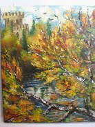 Picturi cu peisaje Lacul de la castel