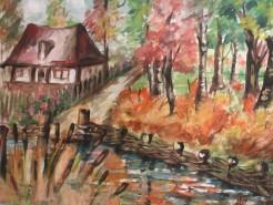 Picturi cu peisaje Margine de sat