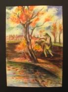 Picturi cu peisaje Semanand ogorul