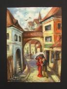 Picturi cu peisaje Sighisoara 3