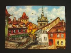 Picturi cu peisaje Sighisoara 5