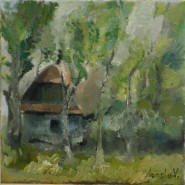 Picturi cu peisaje Casa veche din ardeal