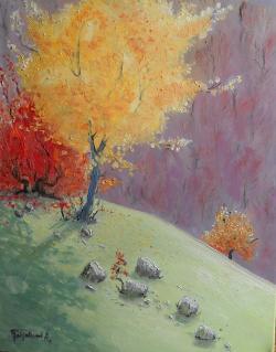 Picturi cu peisaje luciu de toamna