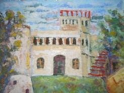 Picturi cu peisaje Vila sutu de la malul marii constanta