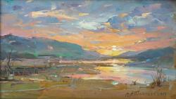 Picturi cu peisaje Apus de soare-3
