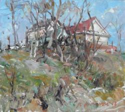 Picturi cu peisaje Casute la Beclean, jud. Cluj
