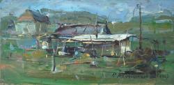 Picturi cu peisaje Casute taranesti-2