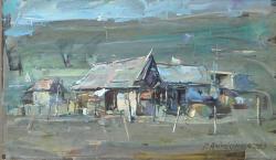 Picturi cu peisaje Casute taranesti-3