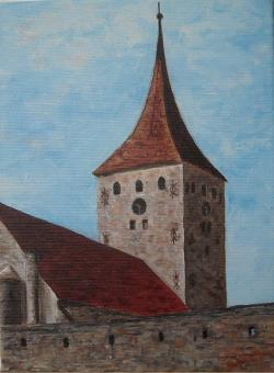 Picturi cu peisaje Biserica din Aiud