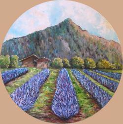 Picturi cu peisaje Camp cu lavanda