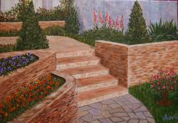 Picturi cu peisaje Coltisor din gradina