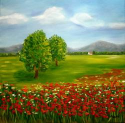 Picturi cu peisaje Dor de vara...