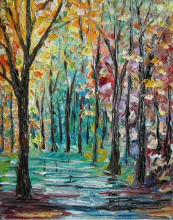 Picturi cu peisaje Padurea in culori