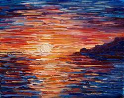 Picturi cu peisaje Soare la apus...