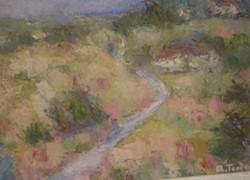 Picturi cu peisaje Hoinarind pe deal