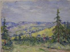 Picturi cu peisaje Linistea plaiului