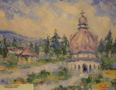 Picturi cu peisaje Manastirea neamt