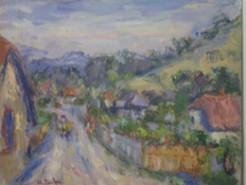 Picturi cu peisaje Viisoara, pe ulita satului