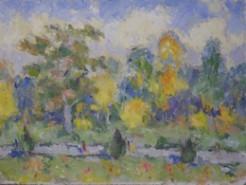 Picturi cu peisaje Zile de toamna in parc