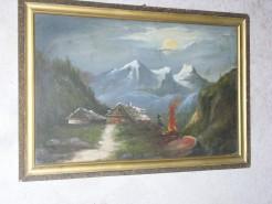 Picturi cu peisaje Casa in munti