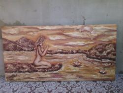 Picturi cu peisaje pe malu apei