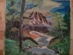 Picturi cu peisaje printe munti