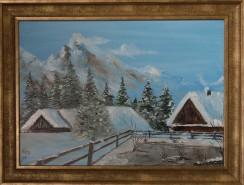 Picturi cu peisaje Peisaj de iarna