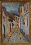 Picturi cu peisaje Strada in amurg