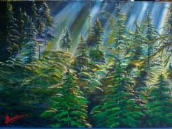 Picturi cu peisaje Crepuscul