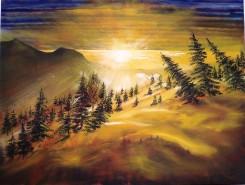 Picturi cu peisaje Mioritica