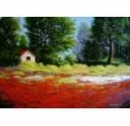 Picturi cu peisaje Peisaj cu maci