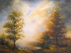 Picturi cu peisaje Apus de soare