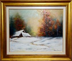 Picturi cu peisaje Iarna la Dretea 1