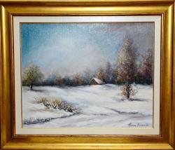 Picturi cu peisaje Iarna la Dretea 2