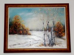 Picturi cu peisaje Prima ninsoare