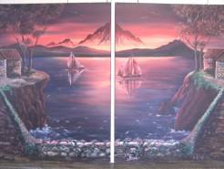 Picturi cu peisaje Apus de soare2
