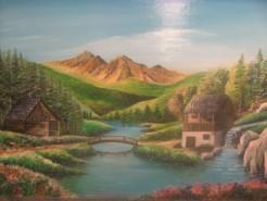 Picturi cu peisaje Moara