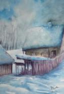 Picturi cu peisaje Gospodarie iarna