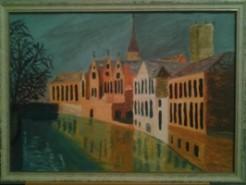 Picturi cu peisaje Canal in bruge