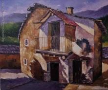 Picturi cu peisaje Casa veche de chirpici