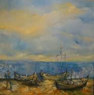 Picturi cu peisaje Barci pescaresti