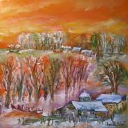 Picturi cu peisaje Biserica la margine de delta