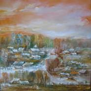 Picturi cu peisaje Canale in delta toamna