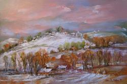 Picturi cu peisaje Cimpina Iarna