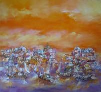 Picturi cu peisaje Grecia panorama salonic