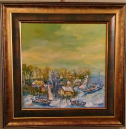 Picturi cu peisaje ''Marina cu Vase Vechi''