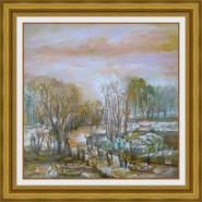 Picturi cu peisaje Padure in delta