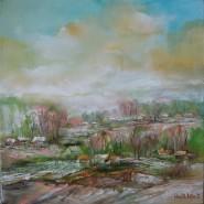 Picturi cu peisaje Panorama la cimpina ulei pe pinza