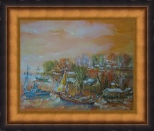 Picturi cu peisaje Peisaj:delta la portita